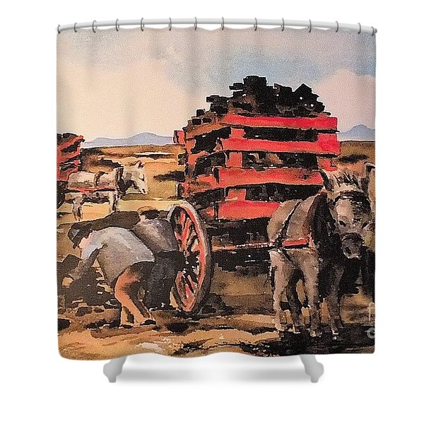 Collecting Turf  Shower Curtain