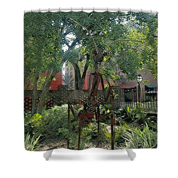 College Creature Shower Curtain