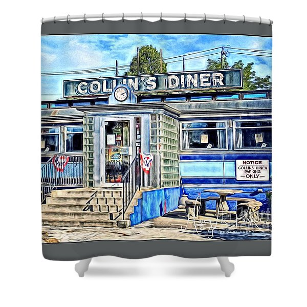 Collin's Diner New Canaan,conn Shower Curtain