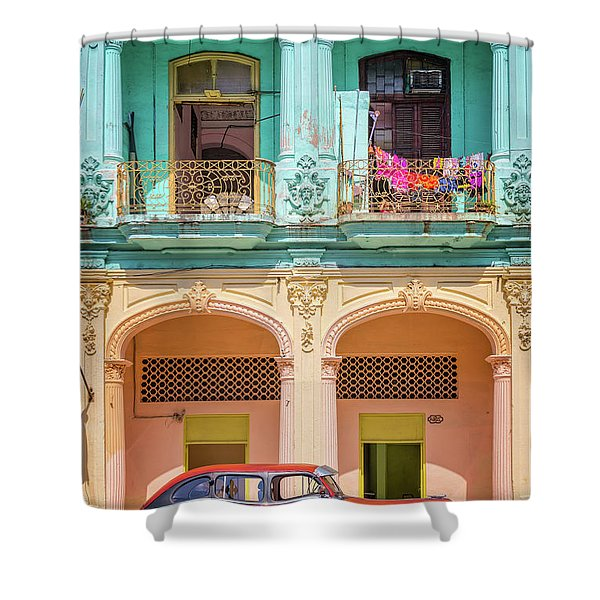 Colonial Architecture Shower Curtain