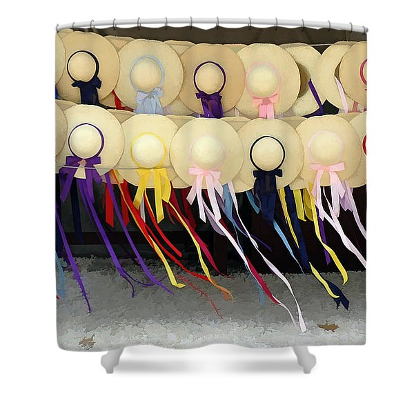 Colonial Hats Shower Curtain