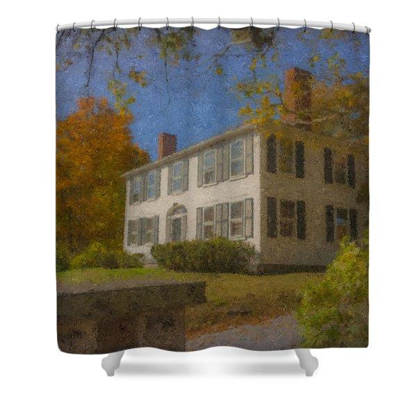 Colonial House On Main Street, Easton Shower Curtain