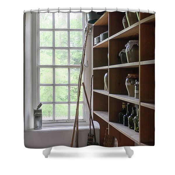 Colonial Kitchen Pantry Shower Curtain