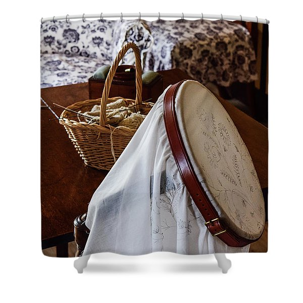 Colonial Needlework Shower Curtain