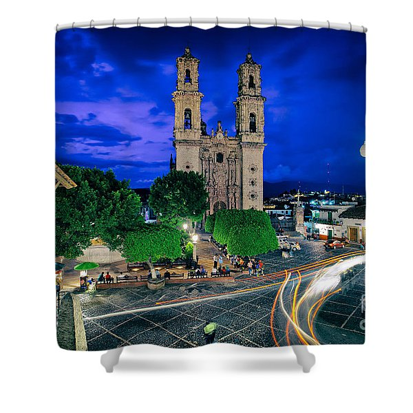 Colonial Town Of Taxco, Mexico Shower Curtain