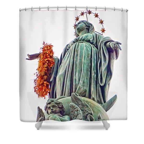 Colonna Della Immacolata Shower Curtain