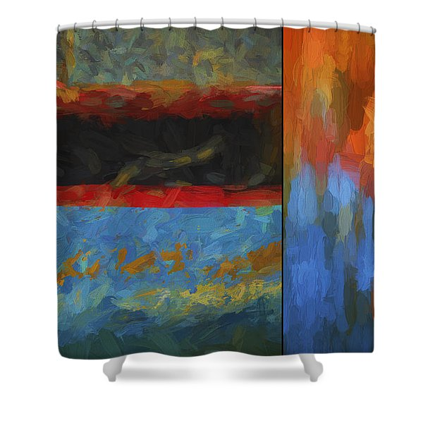 Color Abstraction Li  Shower Curtain