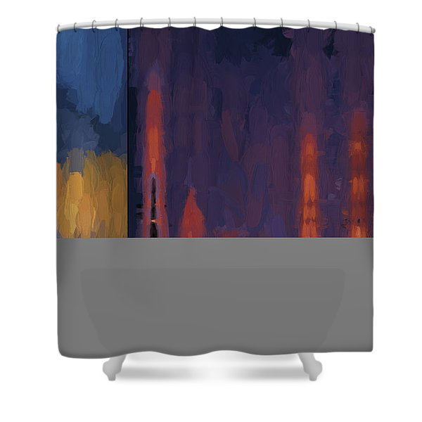 Color Abstraction Lii Shower Curtain