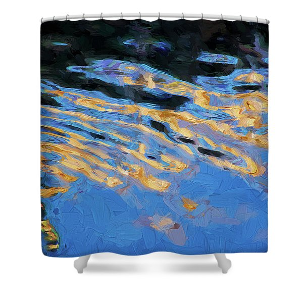 Color Abstraction Lxiv Shower Curtain