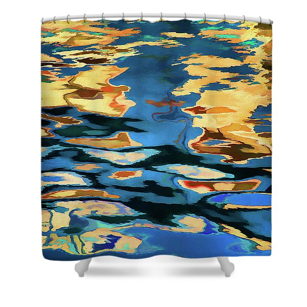 Color Abstraction Lxix Shower Curtain