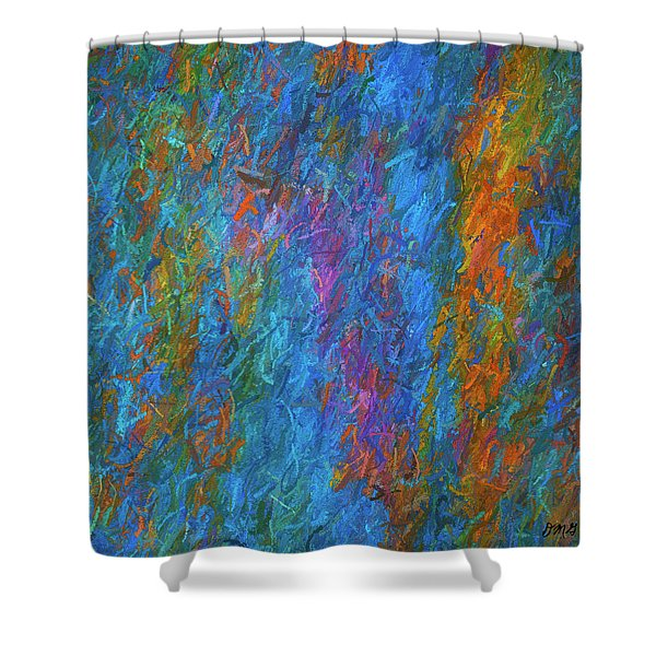 Color Abstraction Xiv Shower Curtain