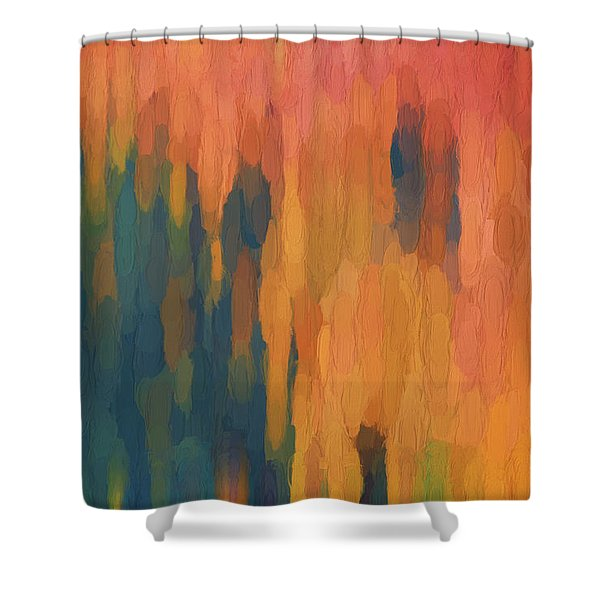 Color Abstraction Xlix Shower Curtain