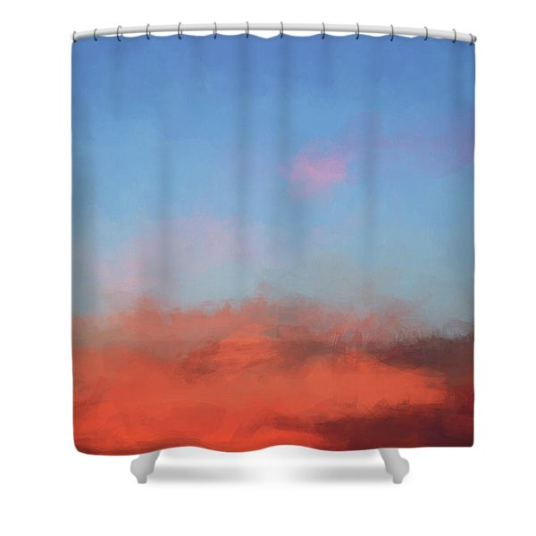 Color Abstraction Xlvii - Sunset Shower Curtain