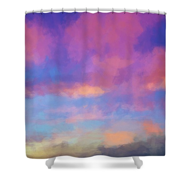 Color Abstraction Xlviii - Sunset Shower Curtain