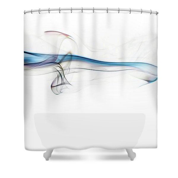 Color And Smoke V Shower Curtain