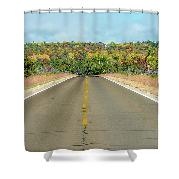 Color At Roads End Shower Curtain