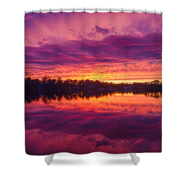Color Explosion Sunset Shower Curtain