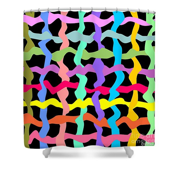 Color Field Theory, No. 3 Shower Curtain