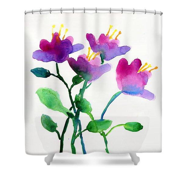 Color Flowers Shower Curtain