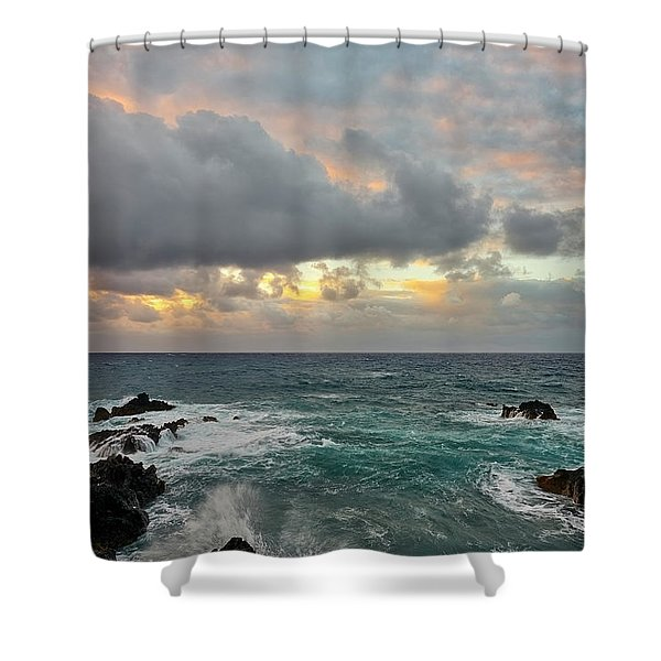 Color In Maui Shower Curtain