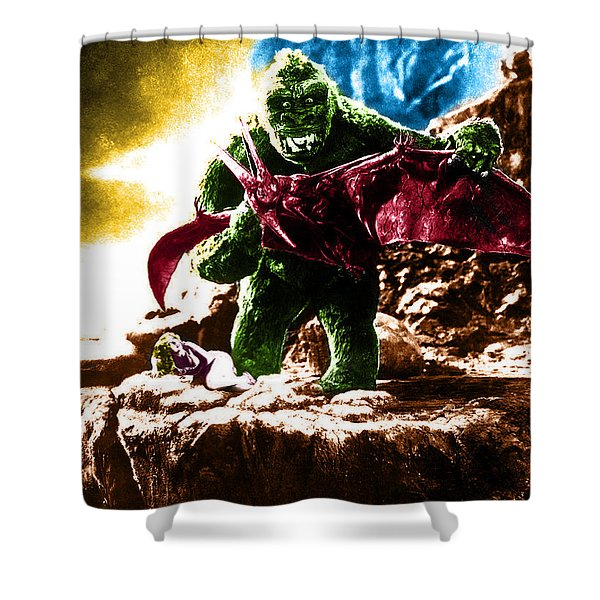 Color King Kong Shower Curtain