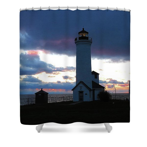 Color Of December, Tibbetts Point Lighthouse Shower Curtain