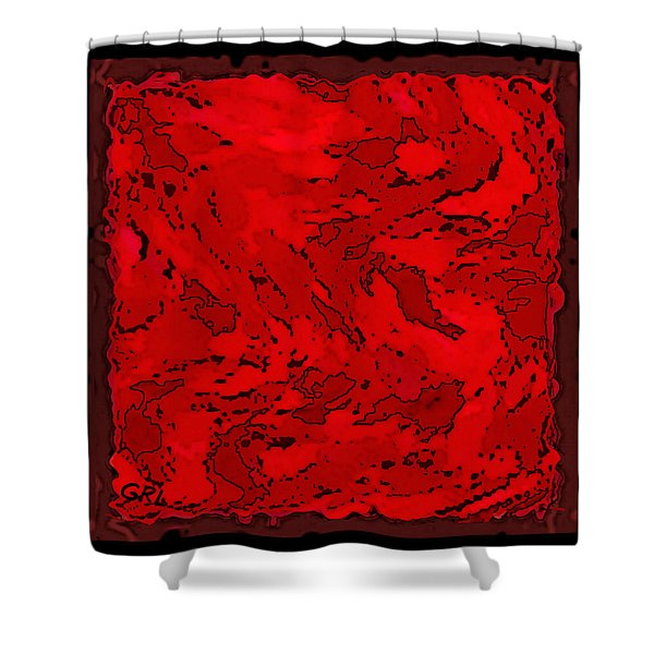 Color Of Red Vi II Contemporary Digital Art Shower Curtain