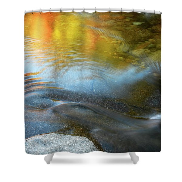 Color On The Swift River Nh Shower Curtain