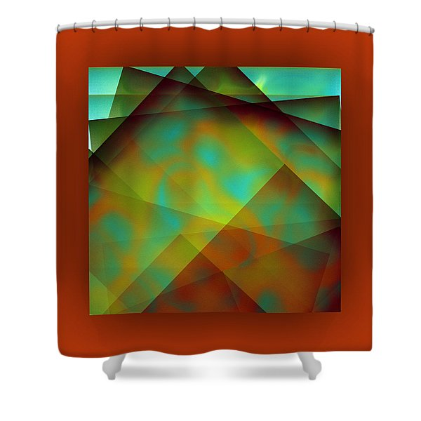 Shower Curtain featuring the digital art Color Package - Orange by Mihaela Stancu