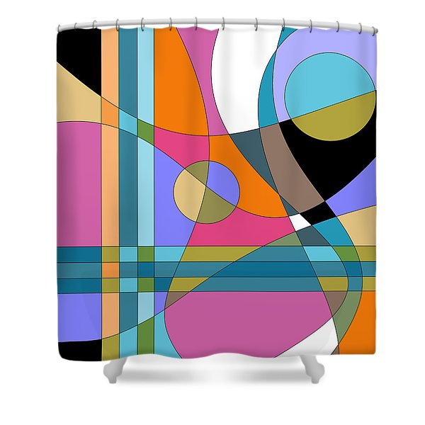 Color Play Shower Curtain