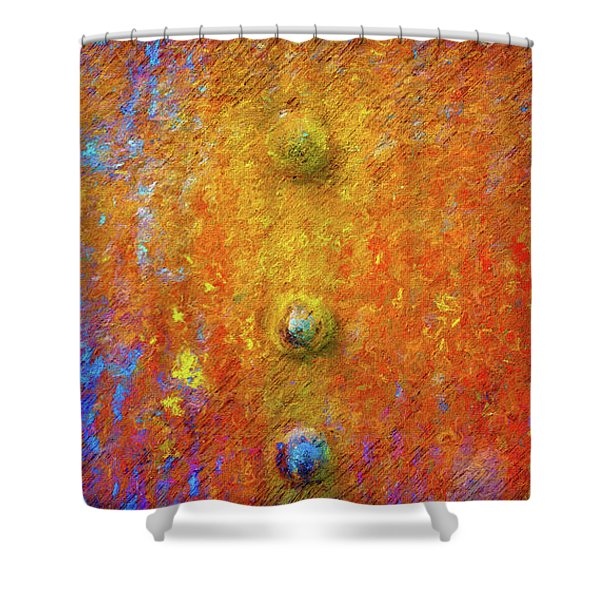 Color Rivets Shower Curtain