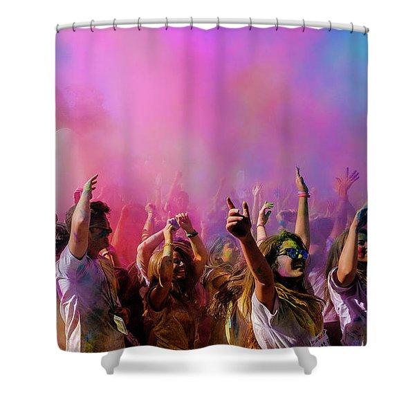 Color Sky Shower Curtain