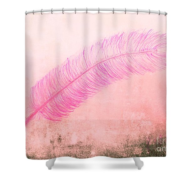 Color Trend Feather In The Wind Shower Curtain