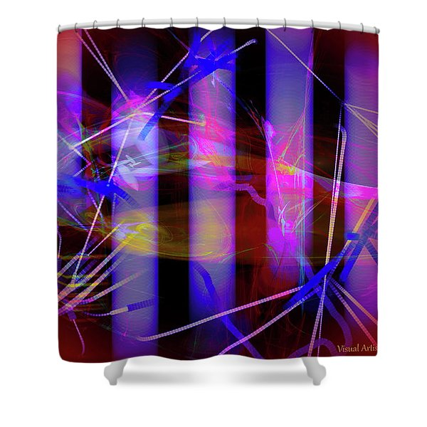 Color Tubes Shower Curtain