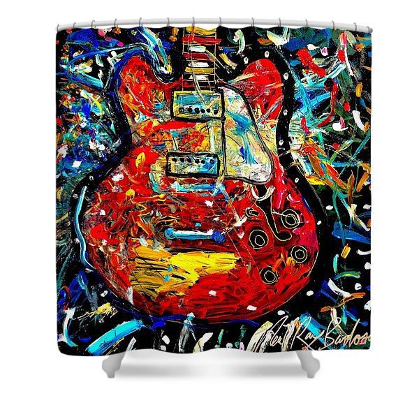 Color Wheel Guitar Shower Curtain