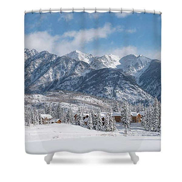 Colorad Winter Wonderland Shower Curtain