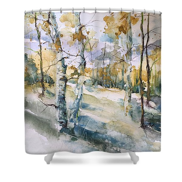 Colorado Aspens And Cottonwoods Shower Curtain