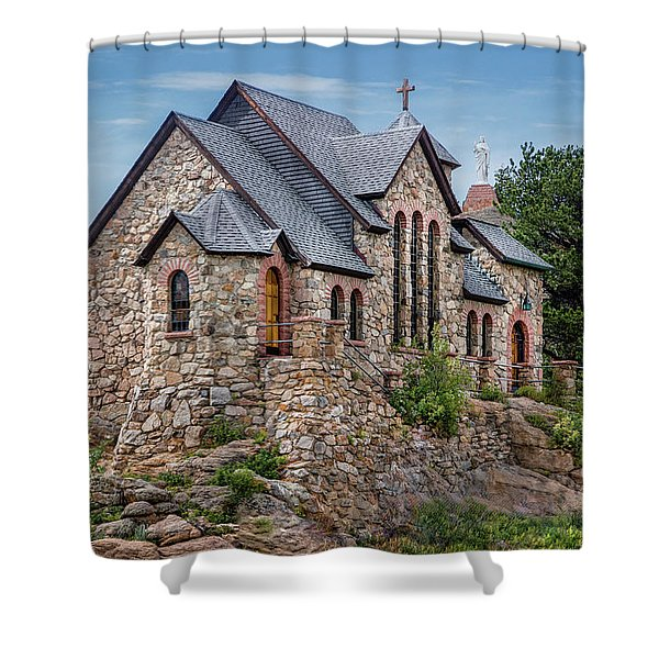 Colorado Chapel On The Rock Shower Curtain