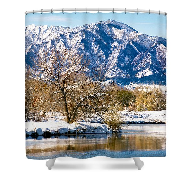 Colorado Flatirons 2 Shower Curtain