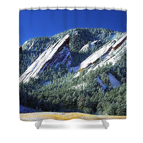 All Five Colorado Flatirons Shower Curtain