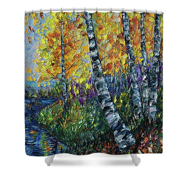 Glimpses Of Colorado Fall Colors Shower Curtain