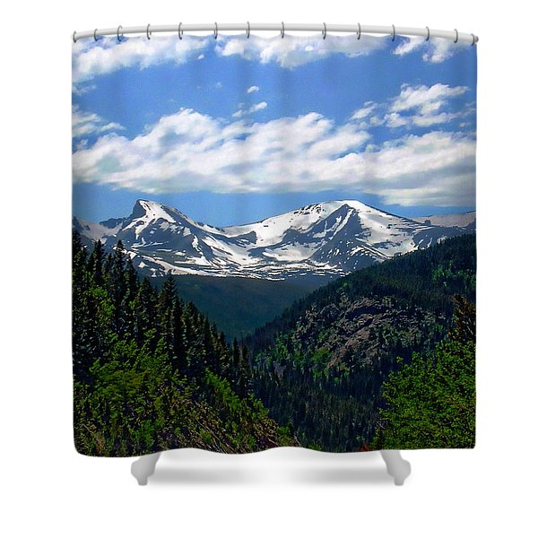 Colorado Rocky Mountains Shower Curtain
