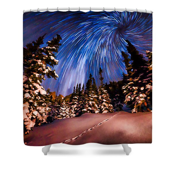 Colorado Starry Night Shower Curtain