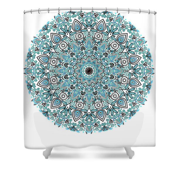 colorDrawMandalalesson Shower Curtain