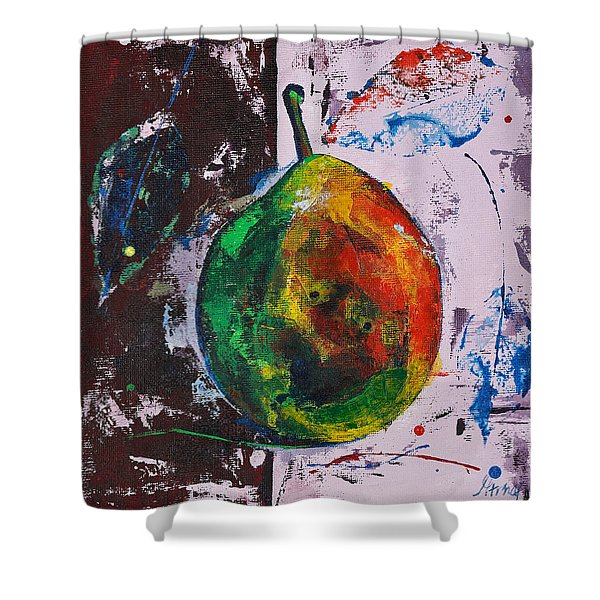 Colored Juicy Fruit Shower Curtain