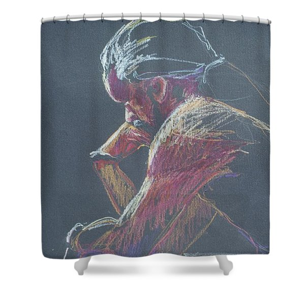 Colored Pencil Sketch Shower Curtain