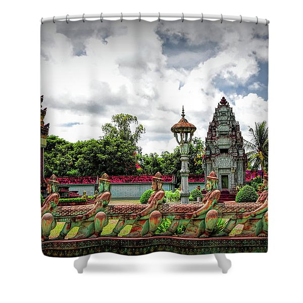 Colorful Architecture Siem Reap Cambodia  Shower Curtain