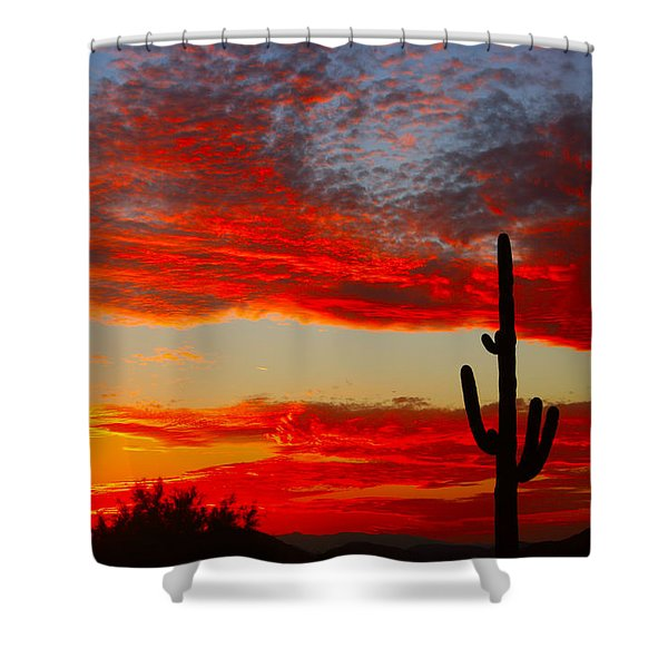Colorful Arizona Sunset Shower Curtain