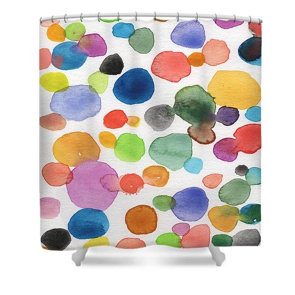 Colorful Bubbles Shower Curtain