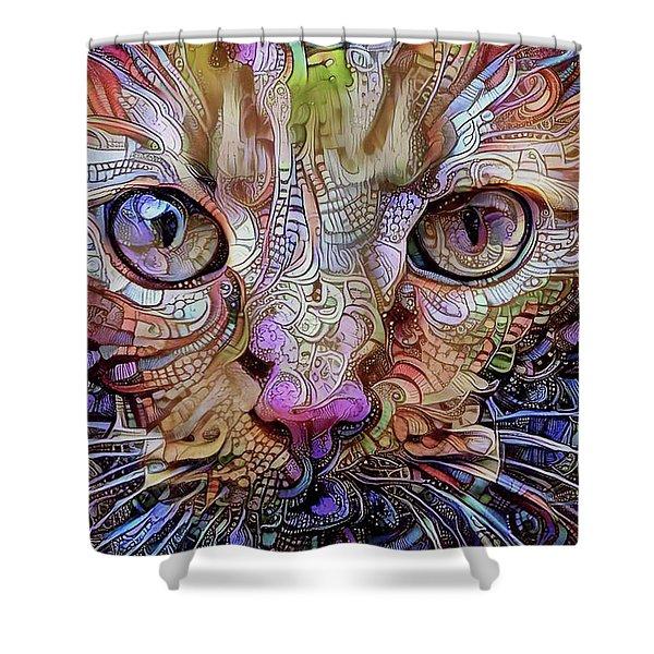 Colorful Cat Art Shower Curtain